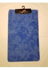 Ковер завитушки blue (1)