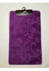 Ковер завитушки dark violet (1)